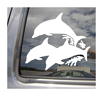Amazon Com Right Now Decals Family Of 3 Dolphins Cars Trucks