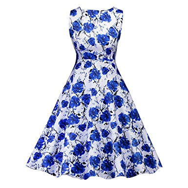 AUUOCC in Stock Natural Style Blue and White Cocktail Dresses Elegant Short Formal Dresses Cheap Simple