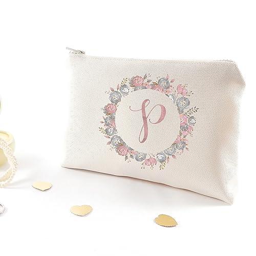 monogram woman gift bridesmaid makeup organizer bridal shower gift