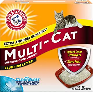 product image for Arm & Hammer MultiCat Clumping Litter, Scented 20lb Box