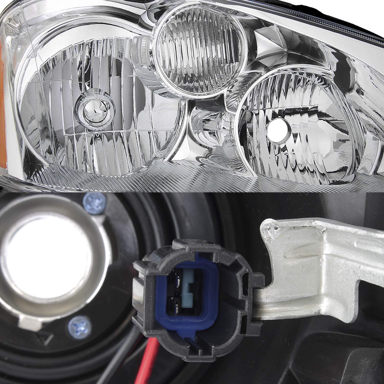 Chrome Housing Clear Lens Fits 2005-2006 Altima Halogen Type Original Manufacturer Style Headlights 05 06 Pair