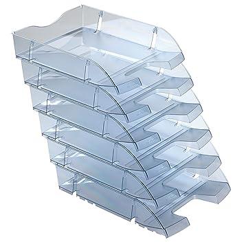 Herlitz 11247228 A4-C4 - Lote de bandejas portadocumentos (6 unidades, plástico reciclado