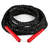 Capital Sports Monster Rope - Corde d'entrainement intensif cross training, endurance, tir a la corde avec bouts gaines pour eviter les brulures (Ø 3,8cm, nylon ultra-résistant, de 9 a 15m)