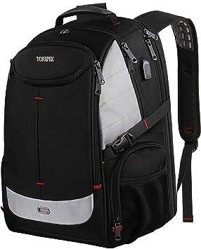e2803deb98 17inch Sac à dos pour ordinateur portable, grand sac à dos d'ordinateur de  voyage avec ...