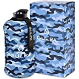 GULPA™ 2.2L Large Sports Water Bottle With Carrying Strap Leak Proof Wide Mouth Lid Dishwasher Safe Lightweight Food…