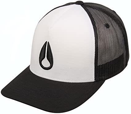 Nixon Iconed Trucker Adjustable Hat - White/Black