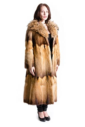 6f4f080ce177f8 Bassarisk Pelz Mantel mit Fell Fuchs Kragen Finnraccoon Mode Größe 38 - 40