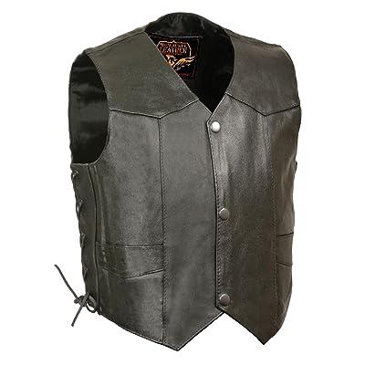 Milwaukee Leather SH2011L-BLK-XS Kids' Vest with Side Laces (Black, X-Small): Automotive