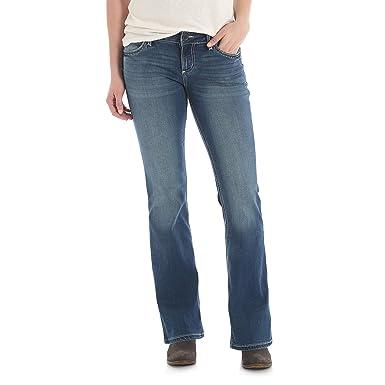 cba87cbb Wrangler Women's Retro Mae Mid Rise Stretch Boot Cut Jean at Amazon Women's  Jeans store