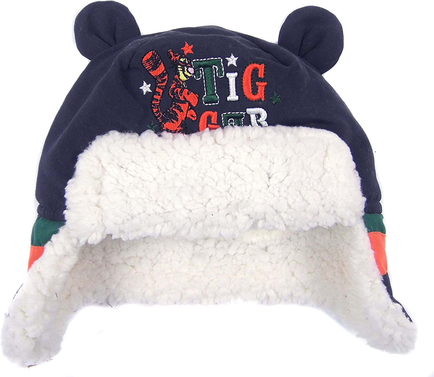 Baby Winter Trapper Hat Tigger Disney Fleece Lined 0-6 3-6 and 6-12 months