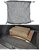 Lescars Kofferraum Befestigung: Universal-Kofferraum-Gepäcknetz, 70 x 70 cm, Dehnbar auf 105 x 105 cm (Gepäcknetz Auto-Kofferraum)