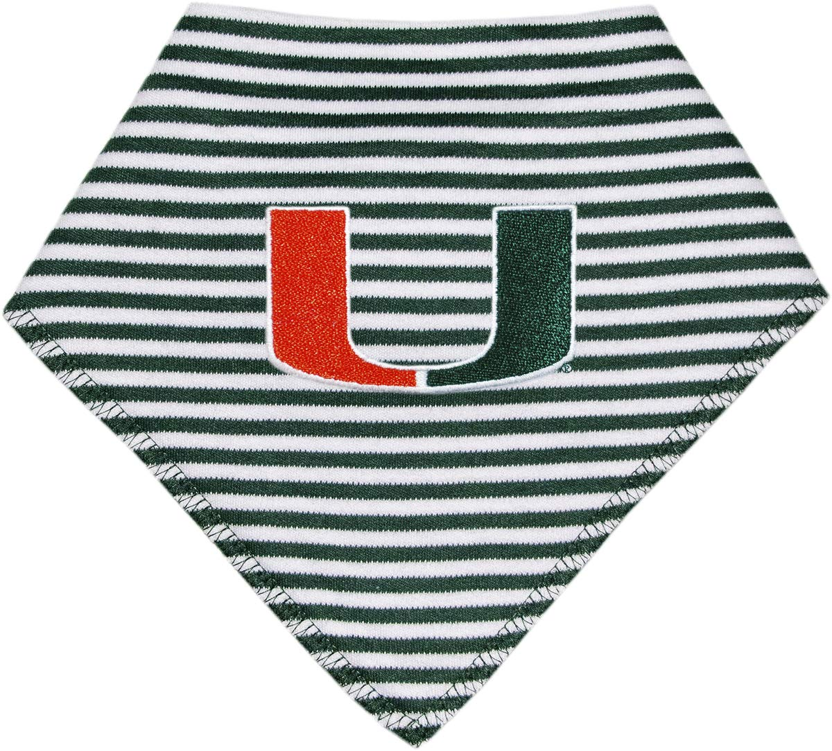 University of Miami Hurricanes Striped Baby Bandana Bib