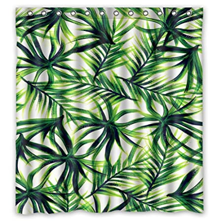 Woyua Palm Tree Background Tumblr Pattern Fabric Shower Curtain Waterproof Polyester Bath Curtains 66quot