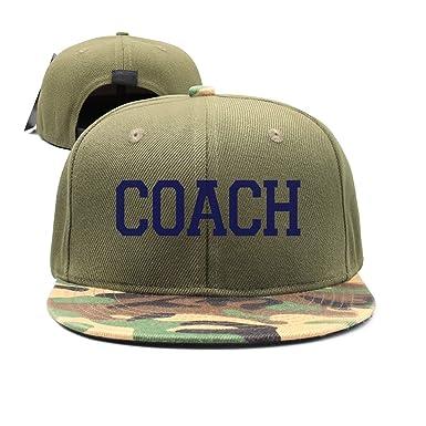 fghjdfcnfd JJIMM Coach White Flat Bill Trucker Mesh Hat Baseball ...