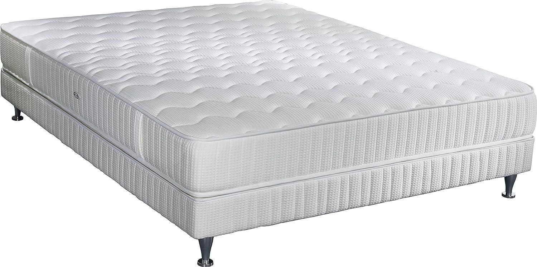 Simmons k21W140200Barcelona Matratze + Lattenrost + Fuß weiß 200x 140x 38cm