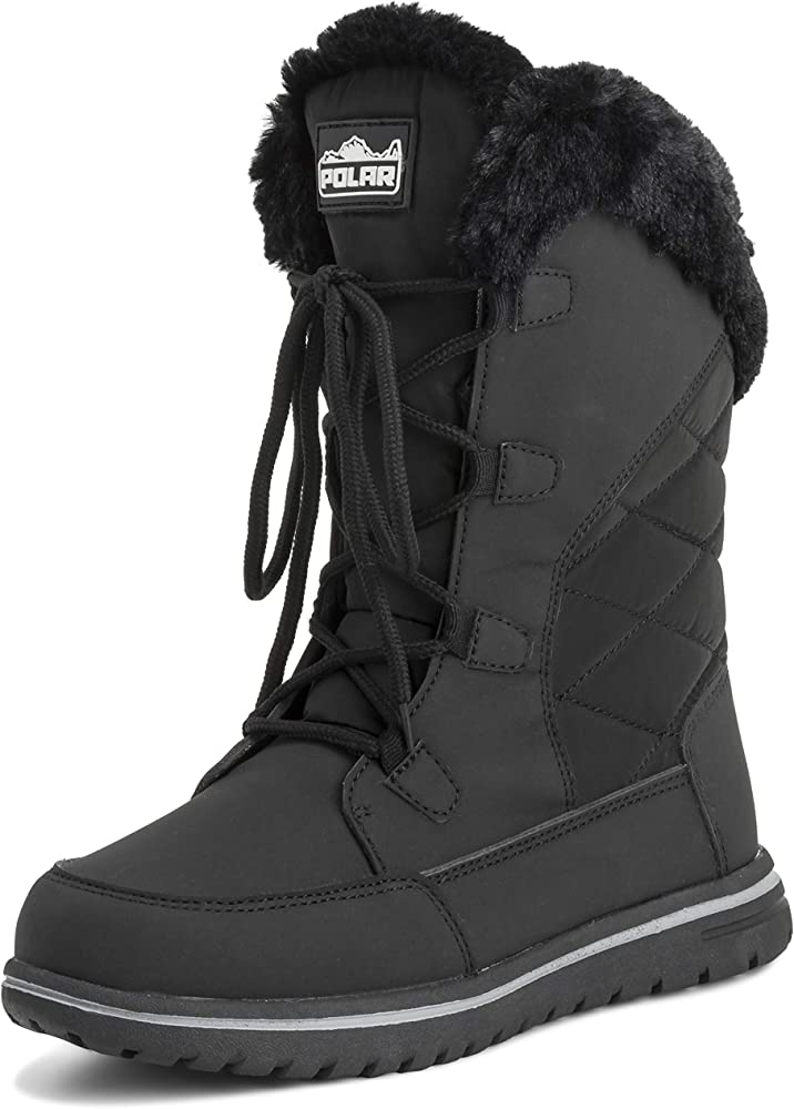 Polar Products Womens Quilted Comfy Winter Rain Warm Snow Knee High Boot