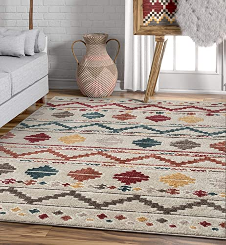Well Woven Moroccan Stripes Area Rug Multicolor 5×7 5 3 x7 3
