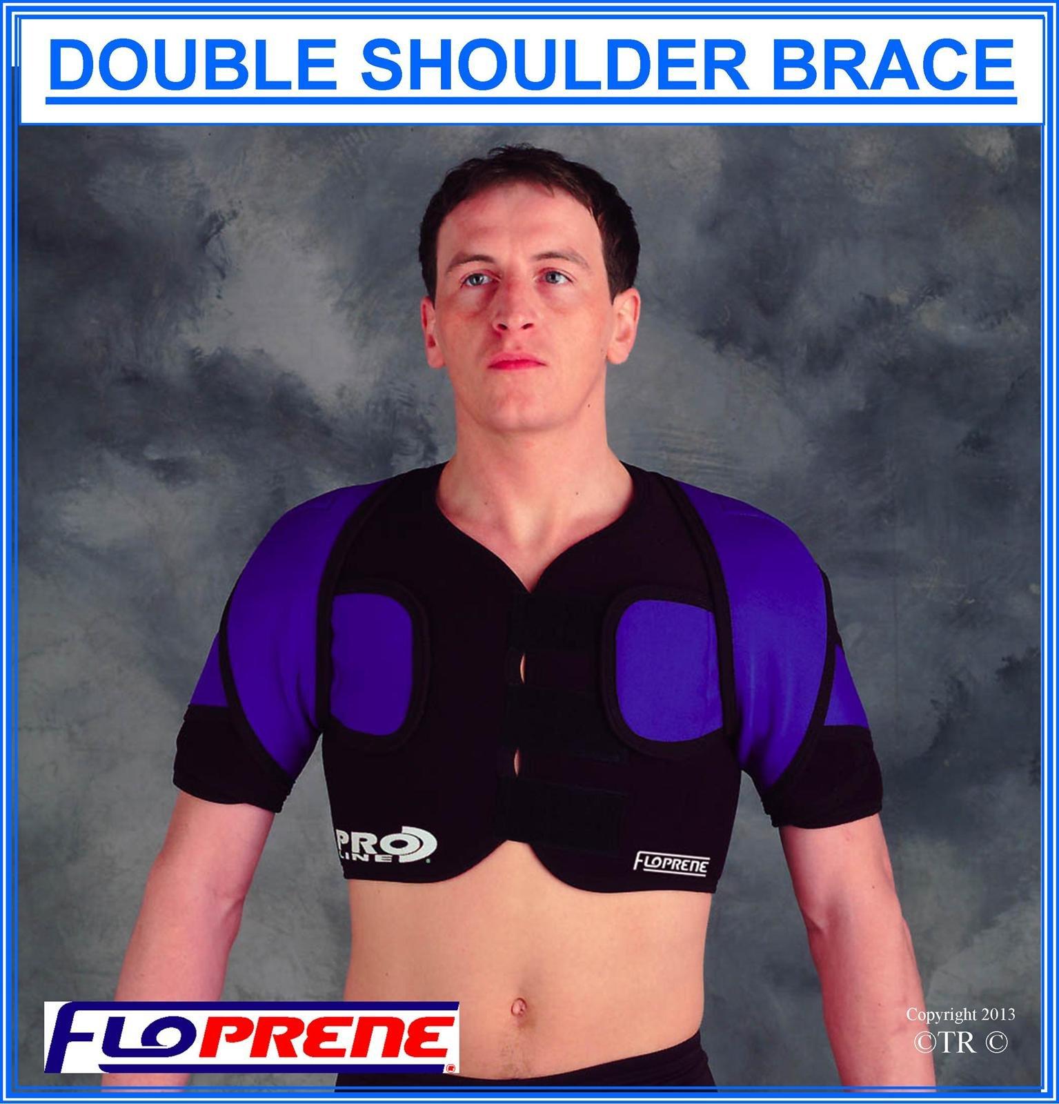 Floprene Double Shoulder Brace - Black - Xx.Large