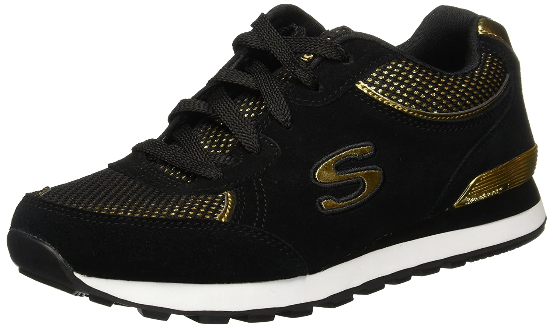 Skechers OG 82 Dash & Dazzle Damen Schuhe Schwarz-Gold Fashion Turnschuhe Turnschuhe Sportschuhe