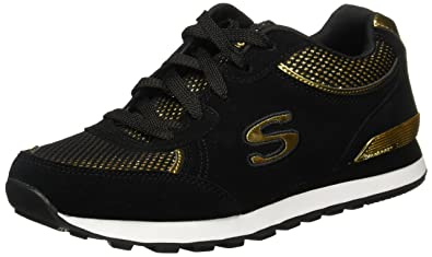 Skechers OG 82 Dash & Dazzle Damen Schuhe Schwarz-Gold Fashion ...