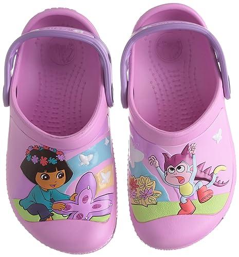 fd8e09b8b126 Crocs Creative Dora Butterfly G Carnation Iris Mules And Clogs Sandal  14045-6Q4-