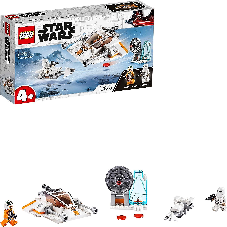 LEGO Star Wars - Speeder de Nieve, Juguete de Construcción Basado en la Guerra de las Galaxias, con Moto Speeder y una Estación de Defensa de la Base Eco, a Partir de 4 Años (75268)