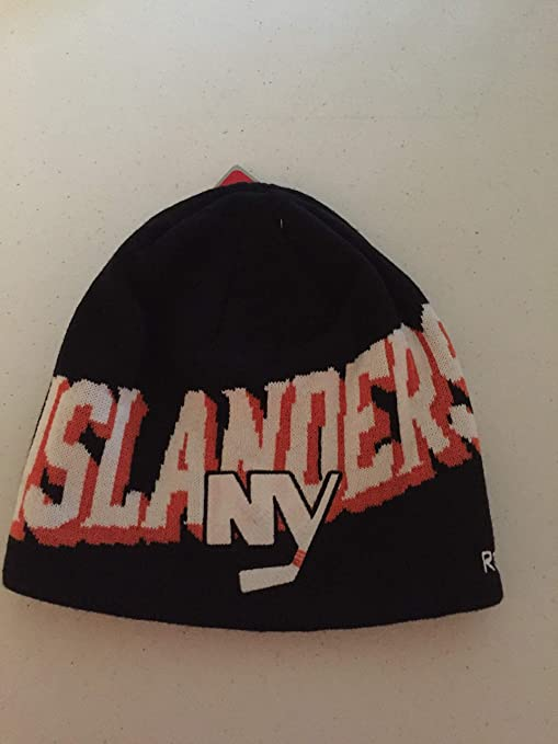 7be256c2d57 Image Unavailable. Image not available for. Color  Reebok New York  Islanders NHL Pattern Cuffless Beanie Toque Hat Cap Knit