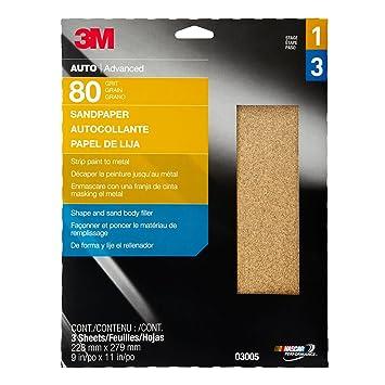 280865813 3M Automotive Products 3M 3005 Aluminum Oxide Automotive Sandpaper ...