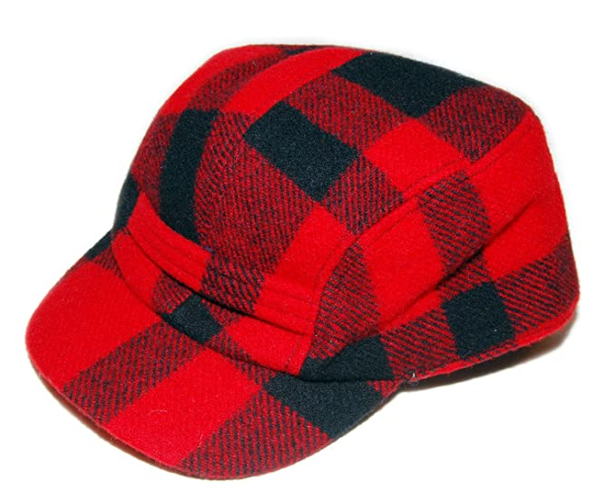 3aa7221df72 Image Unavailable. Image not available for. Color  Polo Ralph Lauren Mens  Vintage Hunting Buffalo Plaid Wool Hat Cap Red ...