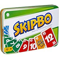 Mattel Games Skip Bo Card Game in Decorative Tin with 162 Cards, Sequencing Family Game for 2 to 6 Players, Kids Gift…