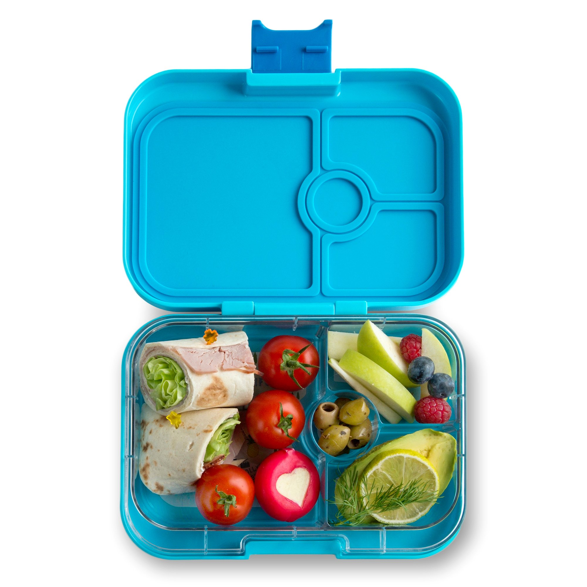 YUMBOX Panino (Blue Fish) Leakproof Bento Lunch Box Container for Kids & Adults;Bento-style lunch box offers Durable, Leak-proof, On-the-go Meal and Snack Packing