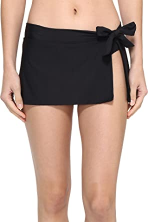 4abcda0f0bf56 Tommy Bahama Women's Pearl Skirted Hipster Bikini Bottom Black Swimsuit  Bottoms