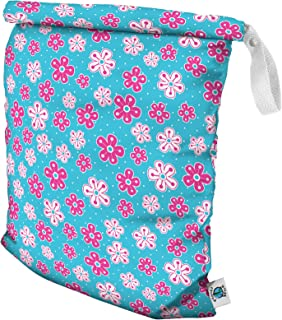 product image for Planet Wise Roll Down Wet Diaper Bag - Large - Aqua Petals