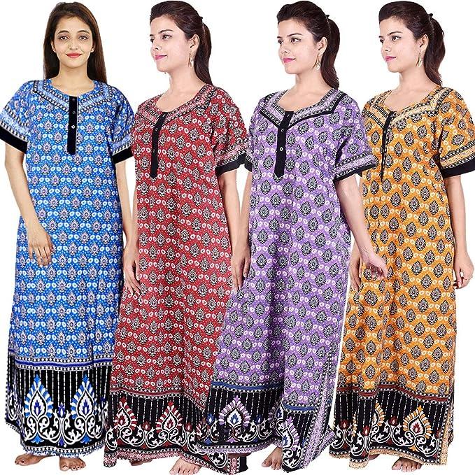 2288db6b12 Silver Organisation Women s Cotton Maxi Gown (Multicolour