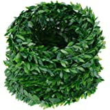 eBoot 24.6 Yards Artificial Garland Foliage Green Leaves Fake Vine for Party DIY Headbands