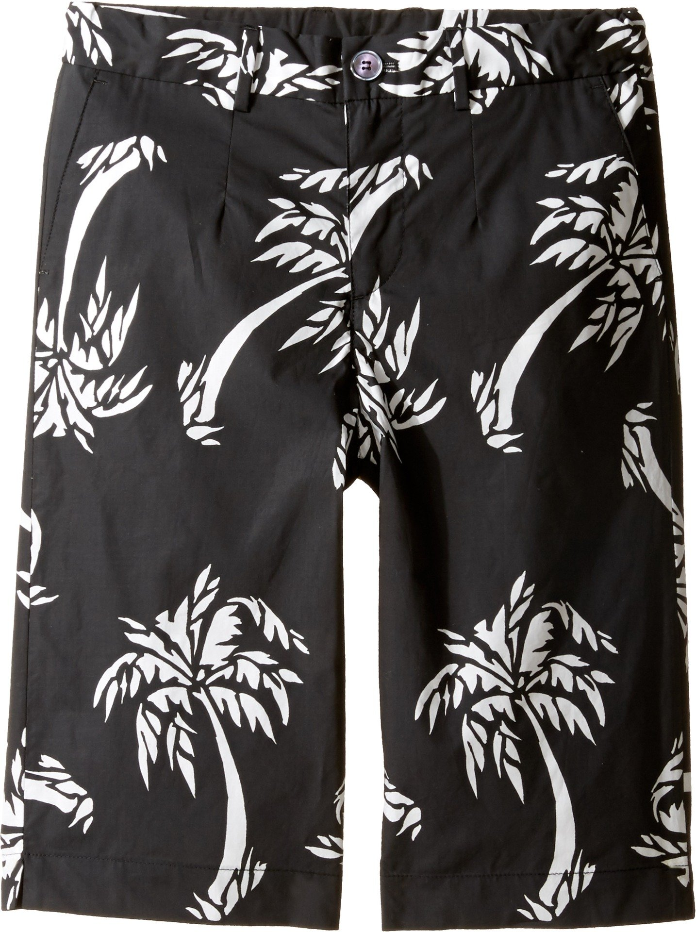 Dolce & Gabbana Kids Boy's Palm Leaf Bermuda (Big Kids) Black Print Shorts by Dolce & Gabbana
