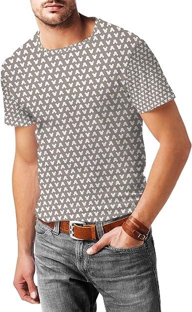 Mickey Mouse lunares papel Kraft para hombre mezcla de algodón T-Shirt: Amazon.es: Ropa y accesorios