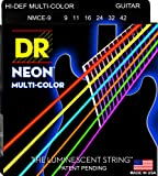 DR Strings NMCE-9 DR NEON Electric Strings, Light, Multi-Color