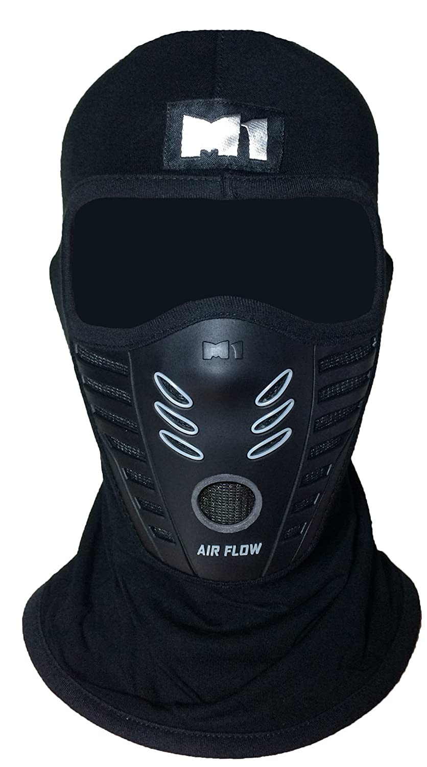 M1 Full Face Cover Balaclava Protection Filter Rubber Mask (BALA-FILT-RUBB-BLCK)