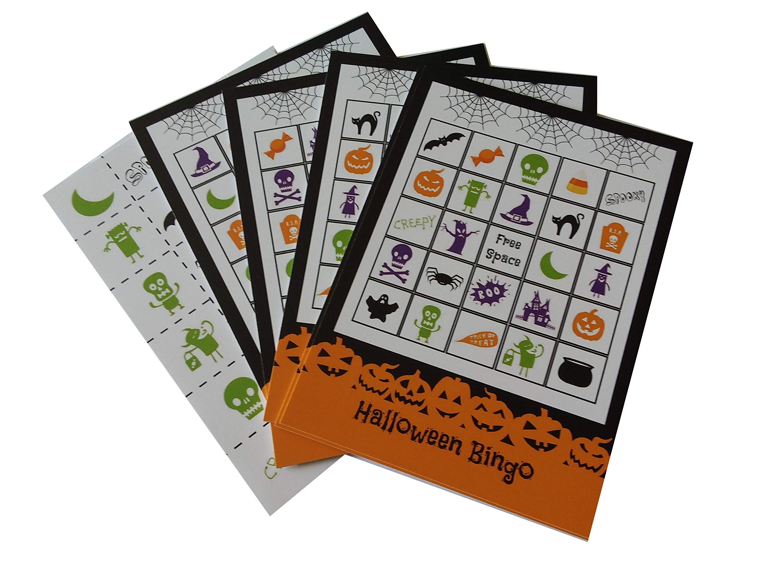 Halloween Bingo Party Game for All Ages Great For Kids and Adults for 24 Players by Happy House Merchandise