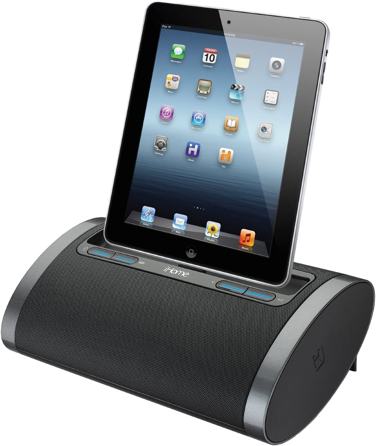 iHome Rechargeable Portable Speaker with Lightning Dock for iPhone 5/5s, iPod, iPad Reason8 Speaker & SRS TruBass Sound Circuitry, USB Port to Play and Charge Your iPhone 5/5S iPad, iPod with Built-In Rechargeable Battery