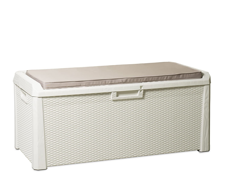 XL Toomax Kissenbox weiß 560 Liter Inhalt - mit Sitzfläche 380 kg Tragkraft - absolut wasserdicht - abschließbar