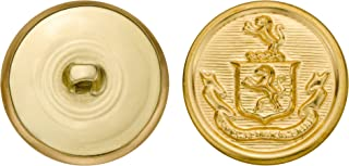 product image for C&C Metal Products 5257 Crest Metal Button, Size 45 Ligne, Gold, 36-Pack