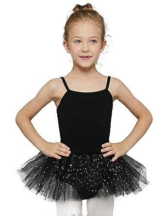 c15fcfd6af Amazon.com: MdnMd Girls' Glitter Camisole Tutu Leotard: Clothing