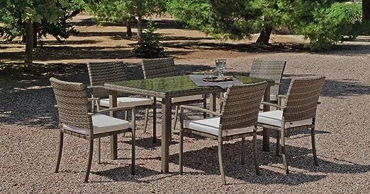 Mesa de comedor y sillas Jardín abasari: Amazon.es: Hogar