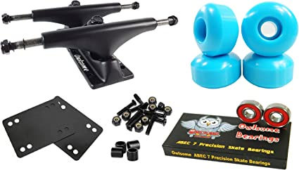 Owlsome 5.0 Standard Matt Black Aluminum Skateboard Trucks Set of 2