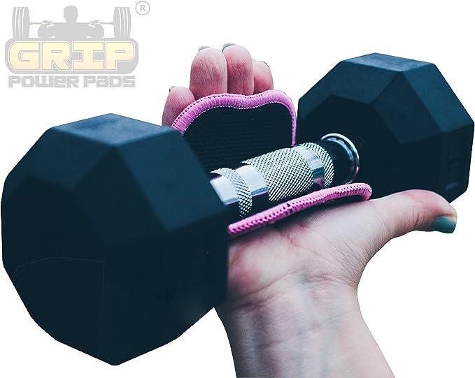 Pro Training Pink Estilo Guantes Grip entrenamiento de la Mujer | Gimnasio Guante alternos | Power Grip Pads® FIT | Lifting Grips | Grip patentado Mano Tecnología Mejor acolchado de neopreno y