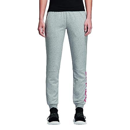 ADIDAS Damen Essentials Linear Pant, medium Grey Heather Real pink s18, L 93229fa2a6