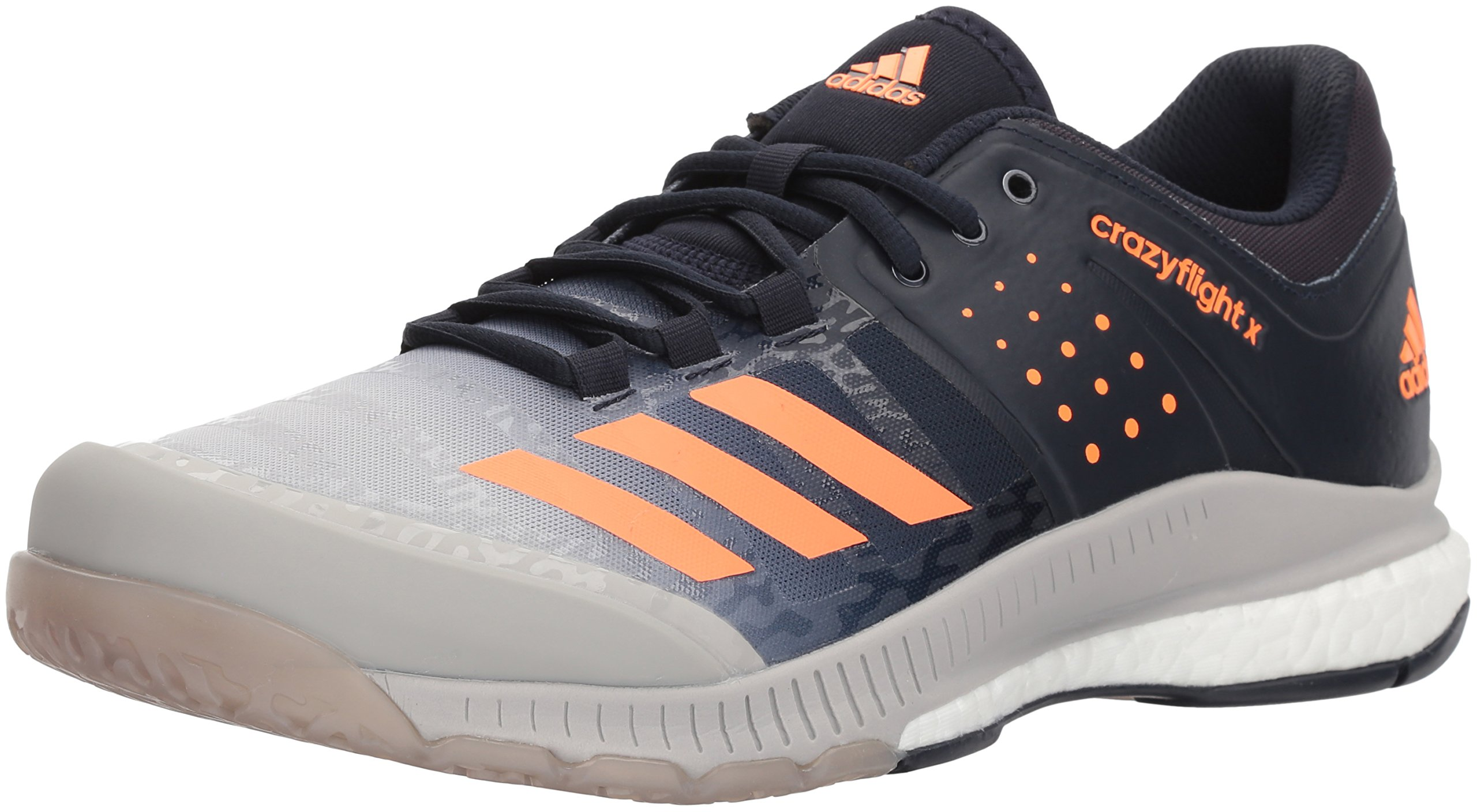 adidas Men's Crazyflight X Volleyball Shoe, Legend Ink/Hi-Res Orange/Grey Two, 11.5 M US by adidas