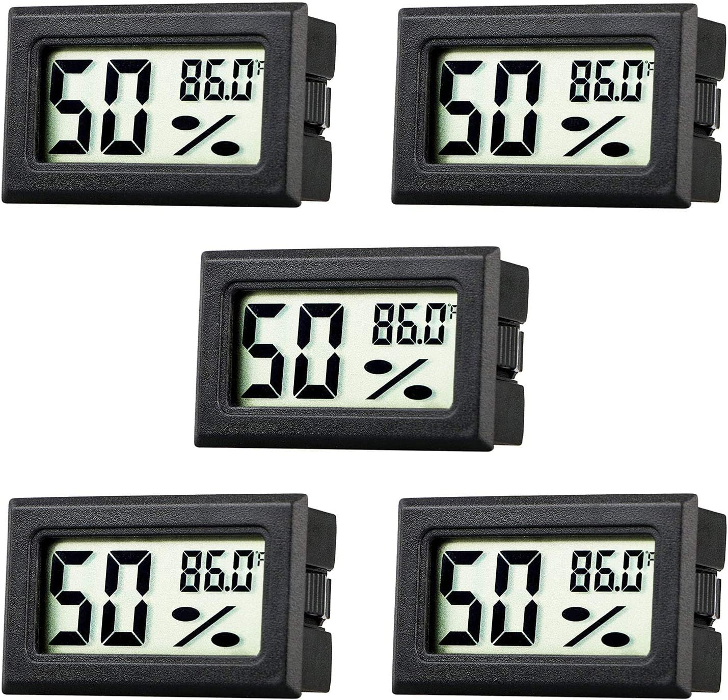 U.S from Solid Mini LCD Digital Indoor Temperature /& Humidity Gauge Thermometer Hygrometer
